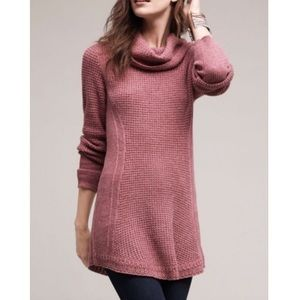 ANGEL OF THE NORTH Pink Rosie Cowl Neck Sweater